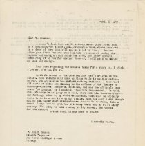 Image of Letter - Herbert Krause to Ralph Cannon, letter, April 6, 1943