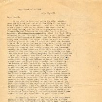 Image of Letter - Herbert Krause to Sewall Pettingill, letter, July 28, 1971