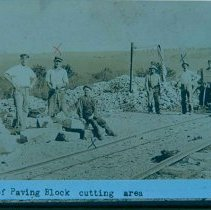 Image of Paving block cutting area at Perry Quarry, n.d.