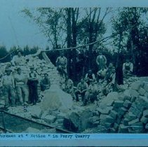 "Image of Quarrymen at ""Motion"" in Perry Quarry, n.d."