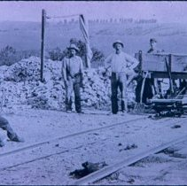Image of Stone car at East Sioux Falls Quarry, n.d.