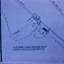 Image of Map showing G. H. Perry Stone Crushing Plant, n.d.
