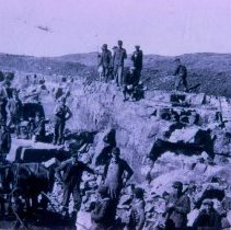 Image of WPA workers at Rowena Quarry on Guy Webster farm, n.d.