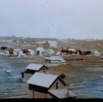 Image of Queen Bee from the east (mill houses in foreground), n.d.