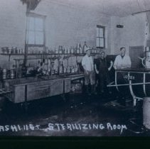 Image of Washing and sterilizing room of Crescent Milk Co., n.d.