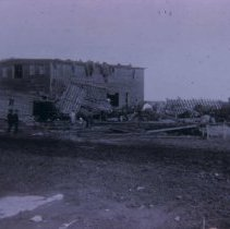 Image of Ritner and Smith Carriage and Wagon Works after tornado, 1895