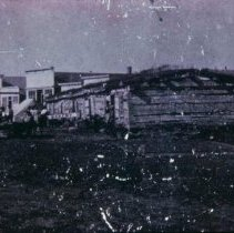 Image of Old Fort Dakota barracks (Phillips Ave. and 8th looking south), n.d.