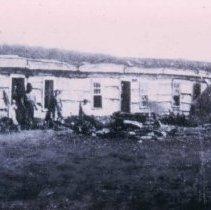 Image of Fort Dakota barracks, ca. 1872