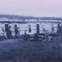 Image of Fort Dakota barracks (between 7th and 8th), ca. 1870-1873
