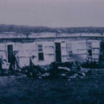 Image of Barracks of Fort Dakota (at about 8th and Phillips), ca. 1872-1873