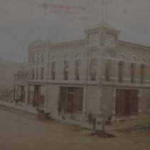 Image of Sherman Building and Post Office (9th and Main), 1885