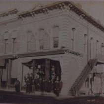 Image of E. A. Sherman Building and Post Office, ca. 1875-1884