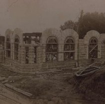 Image of Federal Building and Post Office under construction, ca. 1893