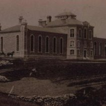 Image of Penitentiary (before the warden's house was built from 1884-1885), 1883