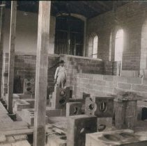 Image of East wing interior of the South Dakota Penitentiary, ca. 1882