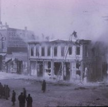 Image of Fire at the Edmison-Jamison Building (9th and Phillips, SW corner), 1889