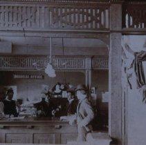 Image of Scene inside the Argus Leader Business Office, ca. 1900