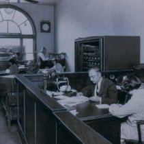 Image of Scene inside the Argus Leader Business Office, ca. 1920