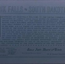 Image of Sioux Falls Board of Trade statement, 1905