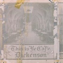 Image of Dickenson's Cafe ad, n.d.