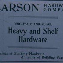 Image of Larson Hardware Company ad, 1905