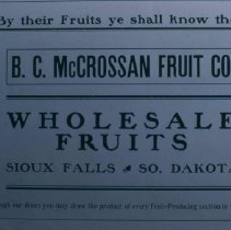 Image of McCrossan Fruit Company ad, 1905