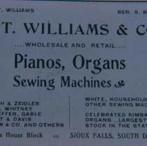 Image of Williams Piano Company ad, 1905
