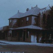 Image of Burlington, Cedar Rapids, and Northern Depot, ca. 1900
