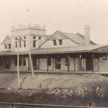 Image of Illinois Central Railroad Station, ca. 1890