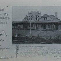 Image of Illinois Central Railroad Company Passenger Station, ca. 1895