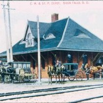 Image of Chicago, Milwaukee, and St. Paul Depot, n.d.