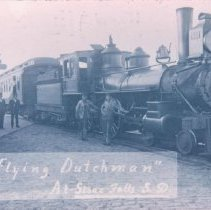 "Image of ""Flying Dutchman"" locomotive in Sioux Falls, 1909"