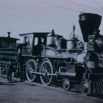 Image of St. Paul and Pacific Railroad locomotive, n.d.