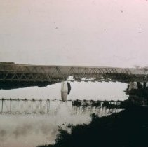 Image of Unidentified railroad crossing bridge, n.d.