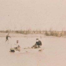 Image of Motorized ice boat, 1912