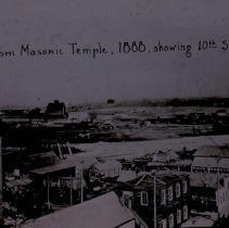 Image of Northeast from Masonic Temple (showing 10th St.), 1888