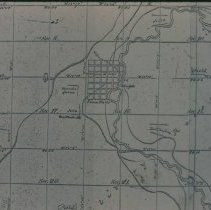 Image of Survey map of Sioux Falls, 1859