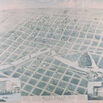 Image of Panoramic map of Sioux Falls, 1881