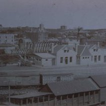 Image of Looking northwest from Illinois Central Station (in foreground), ca. 1892