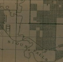 Image of Map of South Sioux Falls and Packing Plant, 1890