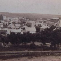 Image of Looking southeast from 8th and Spring, ca. 1890