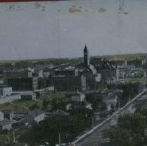Image of Looking southeast at Sioux Falls, 1909