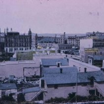 Image of Looking north to 10th St. (Main Ave. on right), 1907
