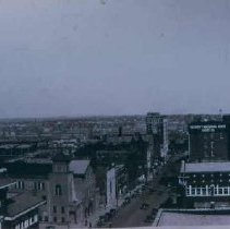 Image of Looking east from Central Fire Station, 1933