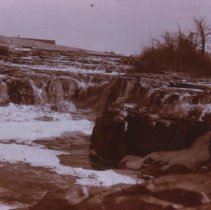 Image of Winter scene at the falls of the Big Sioux River, ca. 1898