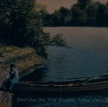 Image of Boating on the Big Sioux River, ca. pre-1916