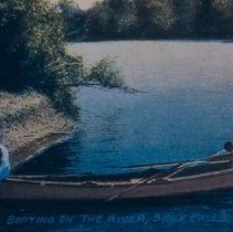 Image of Boating on the Big Sioux River, 1913