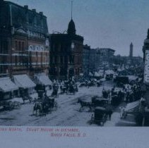Image of Main Ave. (looking north) with Old Courthouse in distance, n.d.