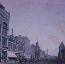 Image of Main Ave. (looking north from 10th St.), ca. 1895-1899