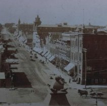 Image of Phillips Ave. (looking south from Merchants Hotel, 8th St.), ca. 1885-1889